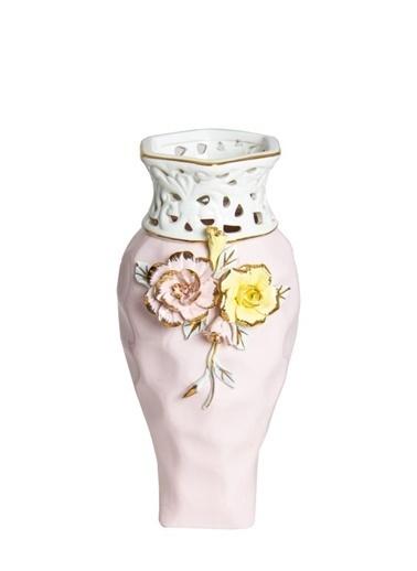 Herevin Porselen Dekoratif Vazo Pembe Pembe
